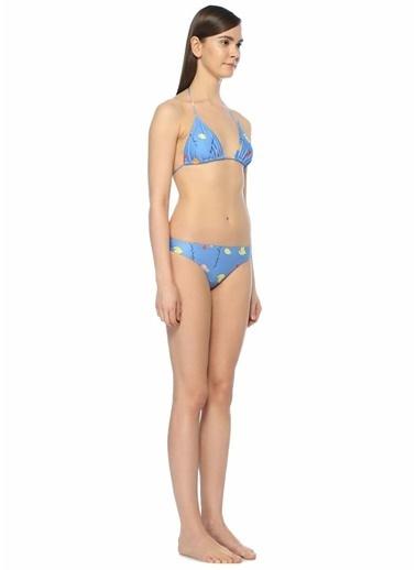 Ganni Üçgen Bikini Takım Mavi